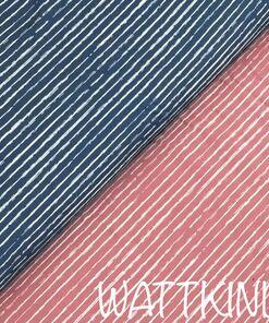 Jersey Stripe blau rosé