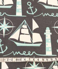 Jersey Segelschiff grau