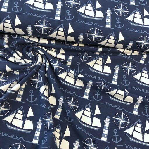 Jersey Segelschiff blau