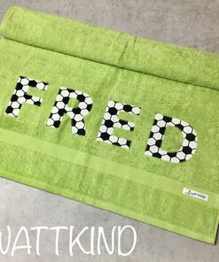 Handtuch Fußball grün