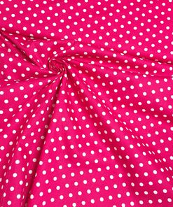 Baumwolle punkte pink