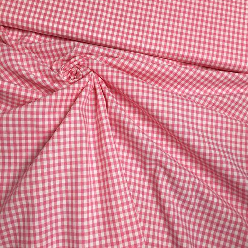 Baumwolle Vichy Karo rosa