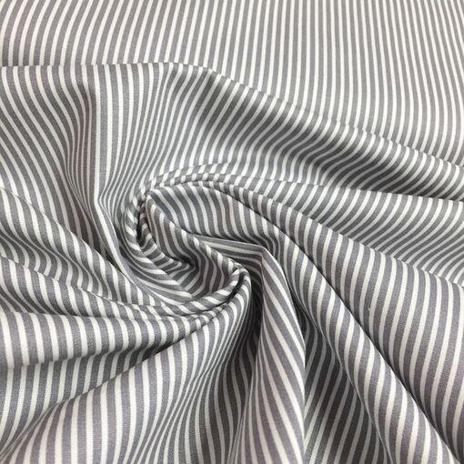 Baumwolle Streifen grau