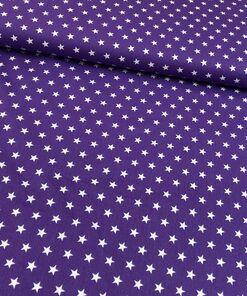 Baumwolle Sterne lila